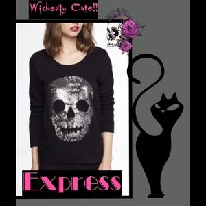 Express Sequins Pullover Sweatshirt
