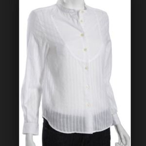 Marc Jacobs sheer bib collarless button up