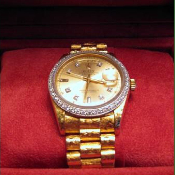 Mens 18k Gold Rolex Day Date Ii President