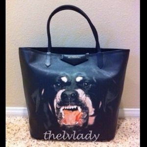 HP 3/17/2014 Givenchy medium Rottweiler tote New