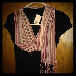 Accessories - Pink striped scarf
