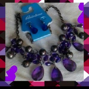 2pc. Purple Earring & Necklace set