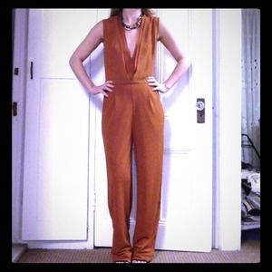 Rust colored jumpsuit