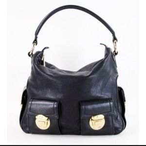 Marc Jacobs multi-pocket leather hobo bag purse