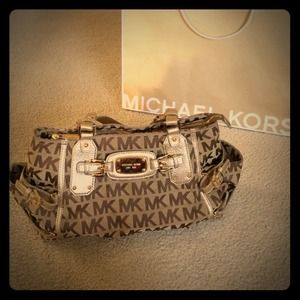 MK Signature Jacquard Purse