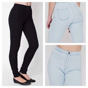 American Apparel Denim - American Apparel Black Easy Jeans