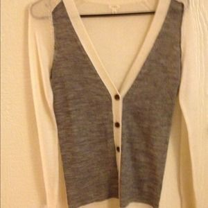 J. Crew Sweaters - J.Crew Factory white and grey sweater