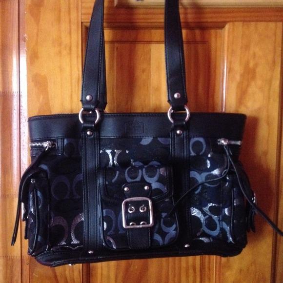 Coach Handbags - Navy Blue  8af20bef58340