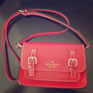 Red Kate Spade Crossbody Handbag