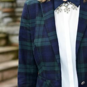 BR Blazer in Black Watch Plaid