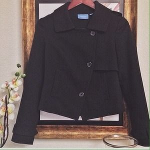 Vera Wang Jackets & Blazers - (NEW) Structured Black Jacket
