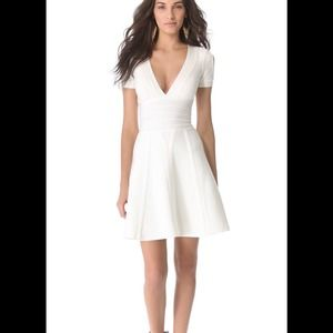 Stunning off white Herve Leger dress $1490 xs