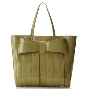 Zac Posen Bow Tote in Pear