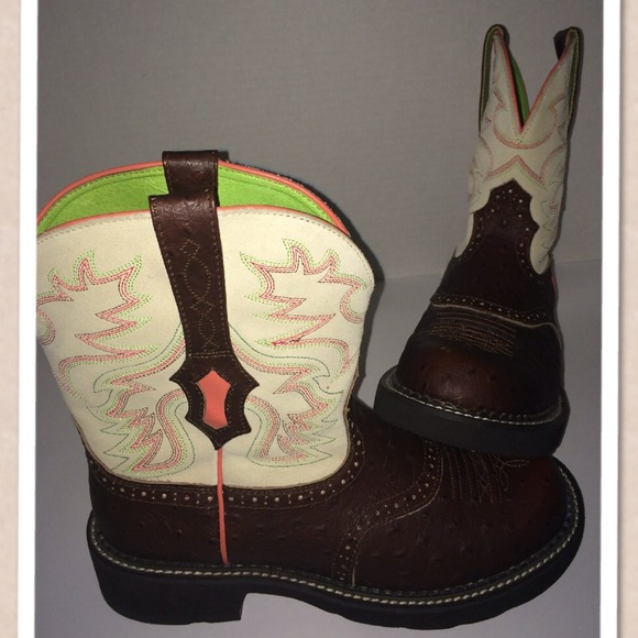 ariat - 💃SOLD💃 Ariat Fatbaby Saddle Bright cowboy boots from ...