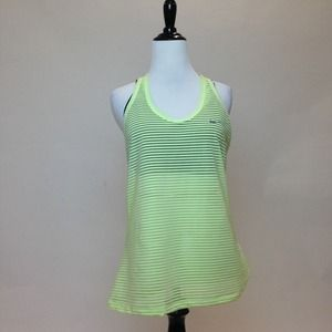 Nike Tops - Neon Yellow Striped Sheer Exercise Tank