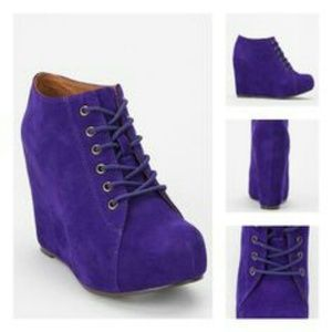 Jeffrey campbell lavender blue 99 lace-up wedge bo