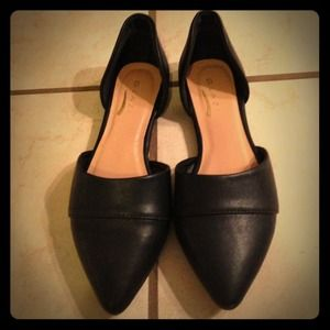Shoes - Glaze Black d'Orsay flats.