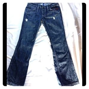 Antik Western Looking Dark Denim Jeans w/Details
