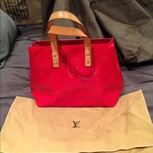 Louis Vuitton Reade Red Tote Bag