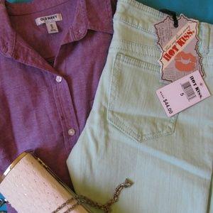 Skinny Capri Jeans in Mint