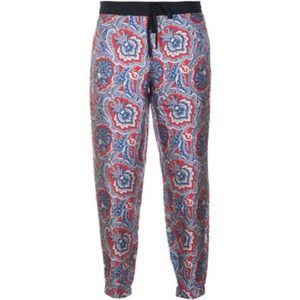 Juicy Couture coastal blue paisley silk pants