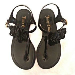 204521bbb157 Juicy Couture Shoes - Juicy Couture Flower Jelly Thong Sandals