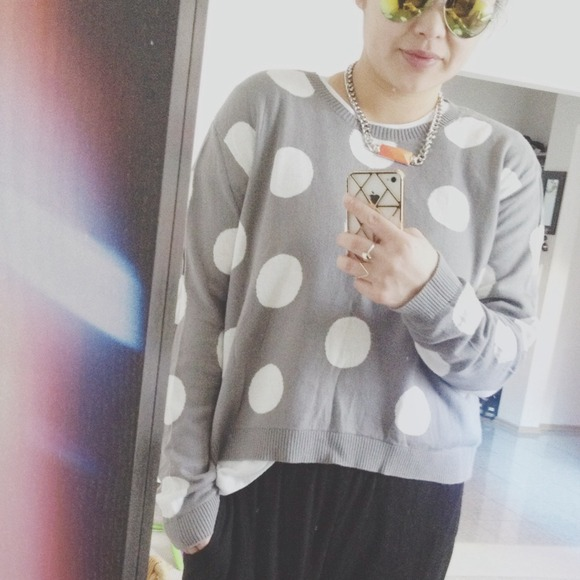 i heart ronson Sweaters - polka dot sweater