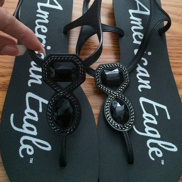 437e19a71eef American Eagle Outfitters Shoes - Never worn AE jelly sandals with black  beads