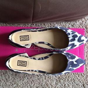 shoedazzle Shoes - Satin Leopard Print flats