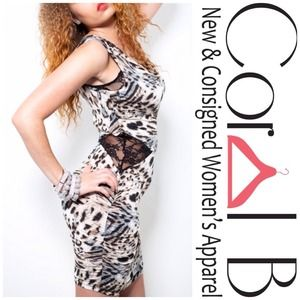 Dresses & Skirts - Leopard Bodycon Cutout Dress