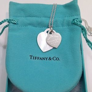 Authentic Tiffany&Co heart tag necklace