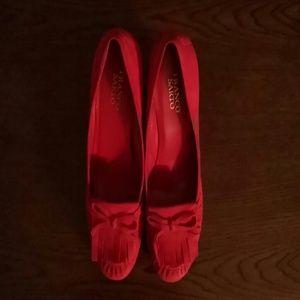 Franco Sarto Red Suede Shoes