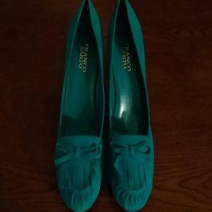 Franco Sarto Blue Suede Shoes