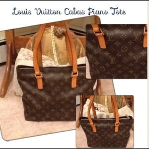 Authentic Louis Vuitton Cabas Piano Tote