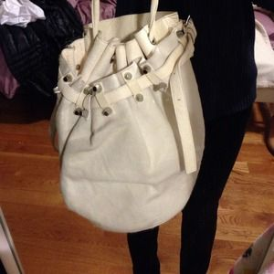 Authentic alexander wang Diego bucket bag in white