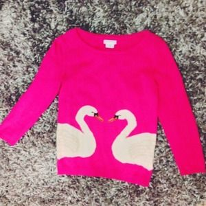 Cooperative Sweaters - Hot Pink Swan Sweater