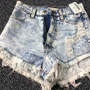 NWT love culture destroyed high waisted shorts