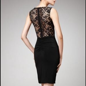 Dolce & Gabbana Black Dress Lace Detail 46/12 NWT