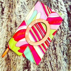 KATE SPADE Multi Colored Clutch