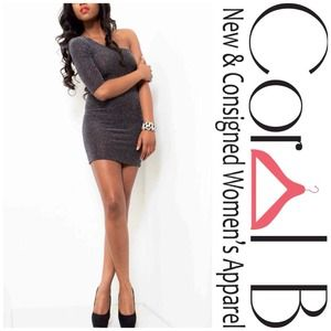 Dresses & Skirts - Silver Body-con Mini Dress