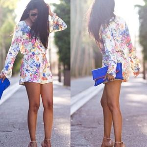 Dresses & Skirts - Floral romper - small