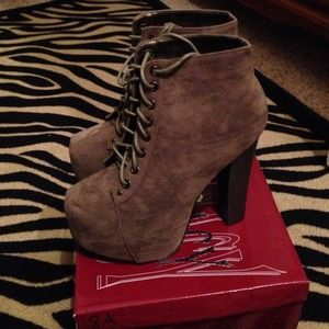 Brand new with box never worn booties.