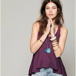 Free people Irma tank in plum