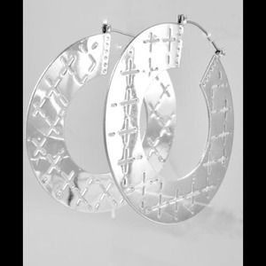 Accessories - Silver tone Hoops