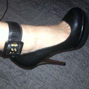 Shoes - ankle strap playform pumps