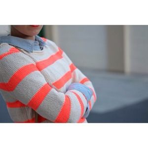 J.CREW neon twisted stitch sweater.