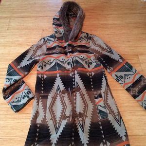 NWT BB Dakota Tribal Print Coat