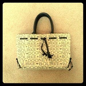 Dooney & Bourke Small Black/Beige Bag