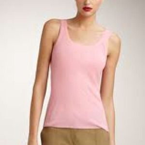 Jean Paul Gaultier Scoop-neck Tank Pink Large NWT
