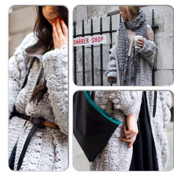 76% off Topshop Sweaters - Topshop Unique Grey Chunky Knit Sweater ...